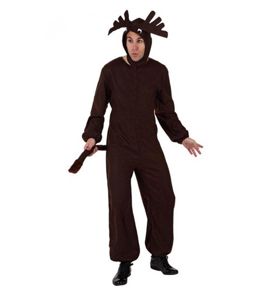 Disfraz De Reno Navideno Adulto Confetifiestascom - Disfraz-reno