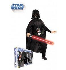 Disfraz de Darth Vader con Espada en Caja para Niño