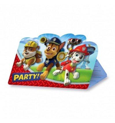Pack 8 Invitaciones La Patrulla Canina