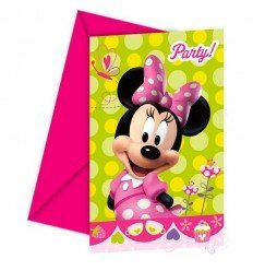 PACK 6 INVITACIONES MINNIE MOUSE