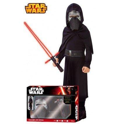 Disfraz de Kylo Ren con espada de Star Wars VII para niño en Caja