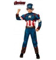 Disfraz de Capitán América Deluxe para niño