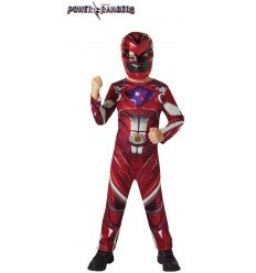 Disfraz de Power Rangers Rojo para niño
