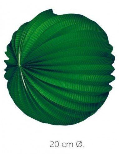 Farol Esférico Verde 20 cm