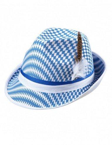 Sombrero Bandera Bávara con Plumas