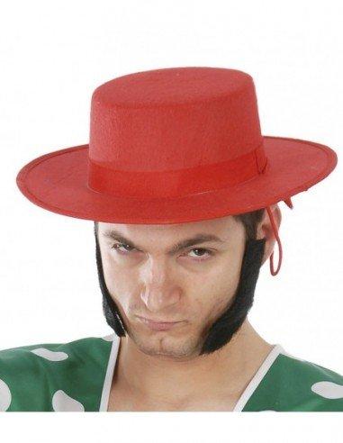 Sombrero de Cordobés Rojo de Fieltro