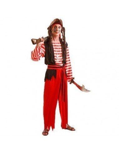 Disfraz de Pirata Rayas Adulto