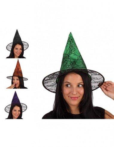 Sombrero de Bruja con Telaraña...
