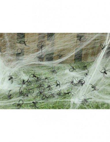 Bolsa de 50 Arañas para Decoración