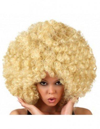 Peluca Super Afro Rubia Rizada