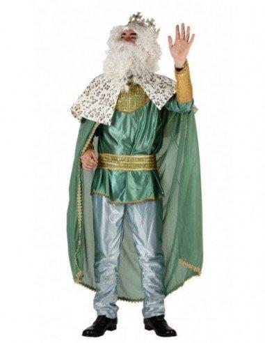 Disfraz de Rey Mago Verde Adulto