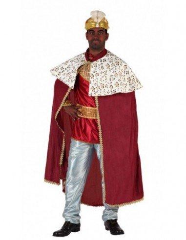Disfraz de Rey Mago Rojo Adulto