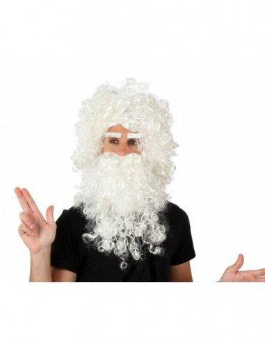 Peluca con Barba de Papá Noel