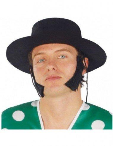 Sombrero de Cordobés Flocado en Negro