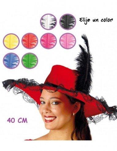 Pluma de Avestruz Grande de 40 cm Color