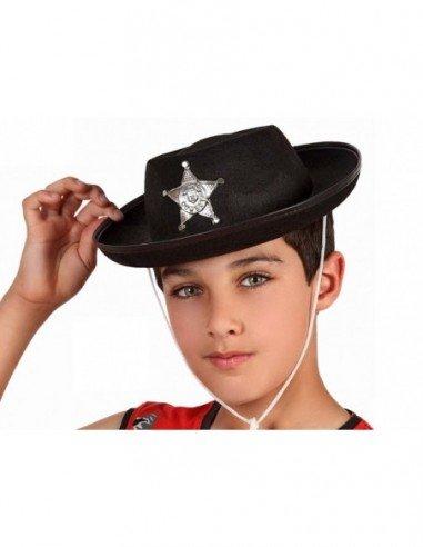 Sombrero Negro de Sheriff con...