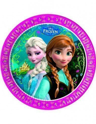 Pack 8 Platos Frozen 23 cm