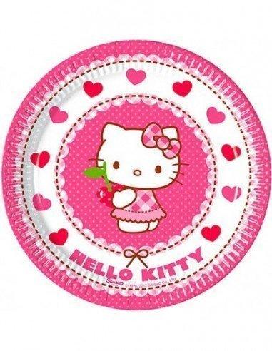 Pack 8 Platos de Hello Kitty 20 cm