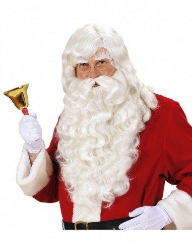 Peluca con Barba de Papa Noel Superlujo