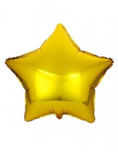 Globo Poliamida Estrella Oro 48cm