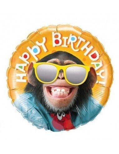 Globo Happy Birthday Smiling Chimp