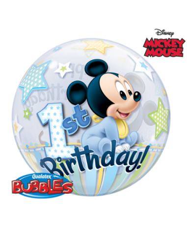 Globo Bubble Mickey Mouse 1st Birthday