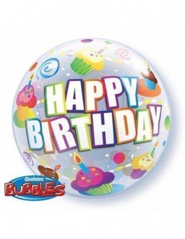 "Globo Burbuja 22"" Happy Birthday"