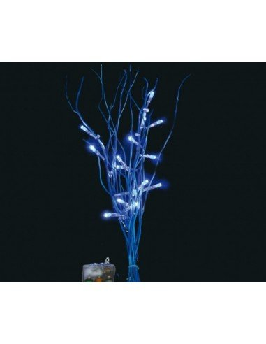 RAMA 16 LED AZUL 40 CMS.PILAS