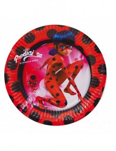 Pack 8 Platos 18 cm Ladybug