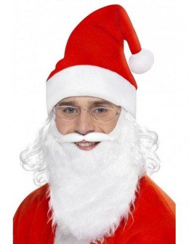 Kit de Papá Noel con barba, gafas y...