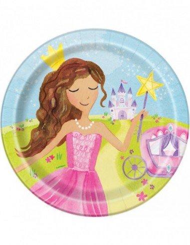 Paquete 8 Platos Magical Princess 22cm