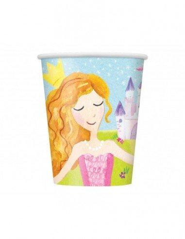 Paquete 8 vasos Magical Princess 270ml