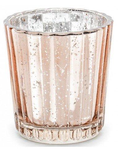 Portavelas Oro Rosa 6 cm