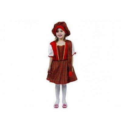 Disfraz de Escocesa Rojo Infantil