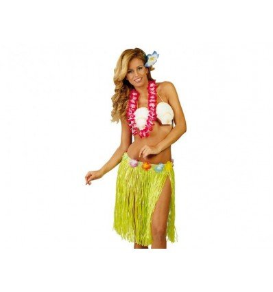 Falda Hawaiana con Flores 45 CM