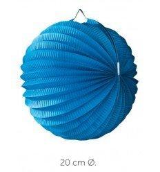 Farol Esférico Azul 20 cm