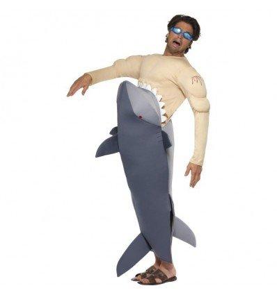 Disfraz de Hombre Devorado por Tiburón Adulto
