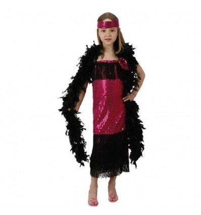 Disfraz de Charleston Fucsia Infantil