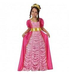 Disfraz de Princesa Rosa Lujo Infantil