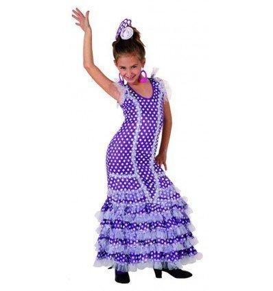 Disfraz de Sevillana Púrpura Infantil