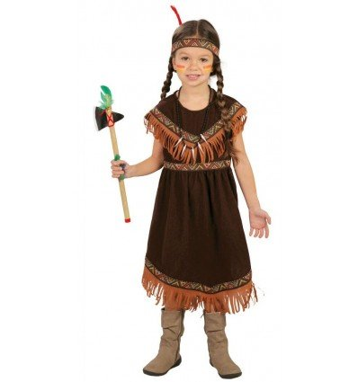 Disfraz de India Marrón Infantil