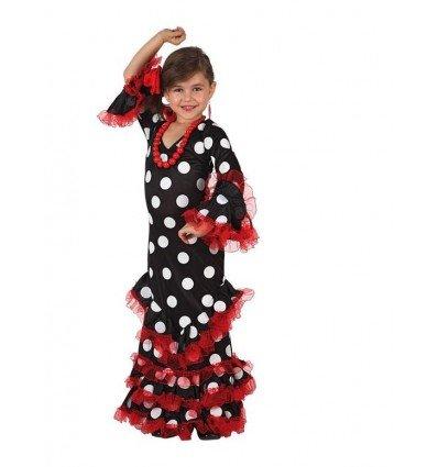 Disfraz de Sevillana Negro Infantil