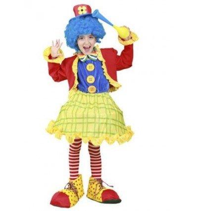 Disfraz de Payasita Colorines Infantil