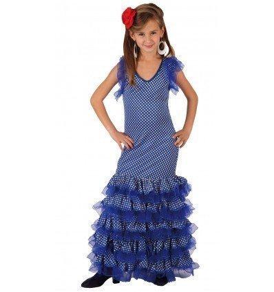 Disfraz de Sevillana Azul Infantil