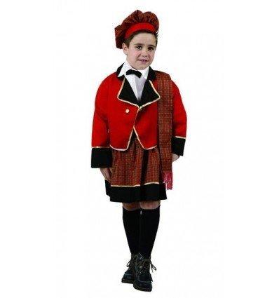 Disfraz de Escoces Rojo Infantil
