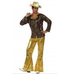 Disfraz de Chico de la Disco Dorado Adulto