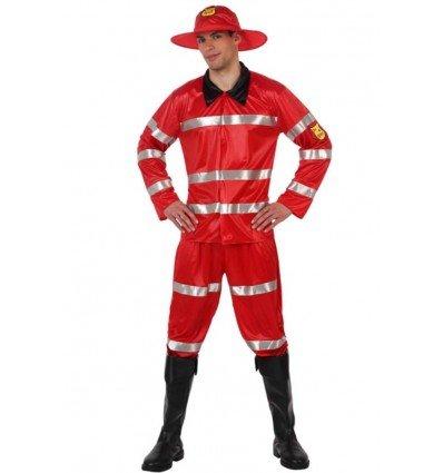 Disfraz de Bombero Rojo Adulto
