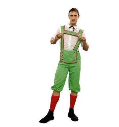 Disfraz de Tiroles en Verde Adulto