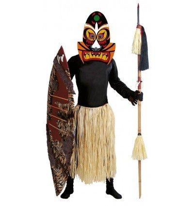Disfraz de Salvaje Zulú Adulto