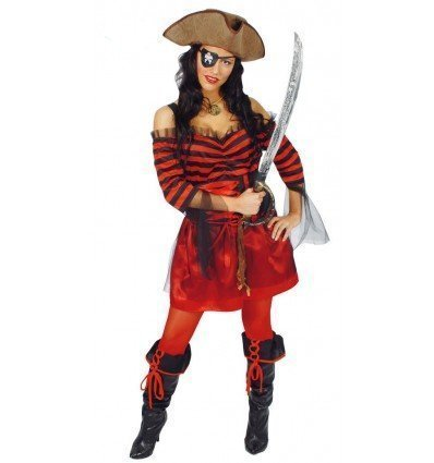 Disfraz de Capitana Pirata Adulta